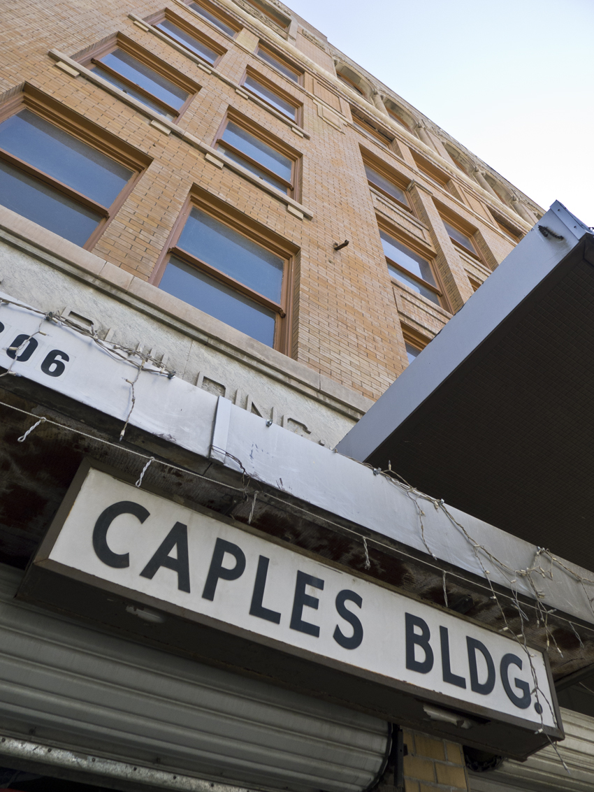 The Caples Building, owned by the dastardly Billy Abraham